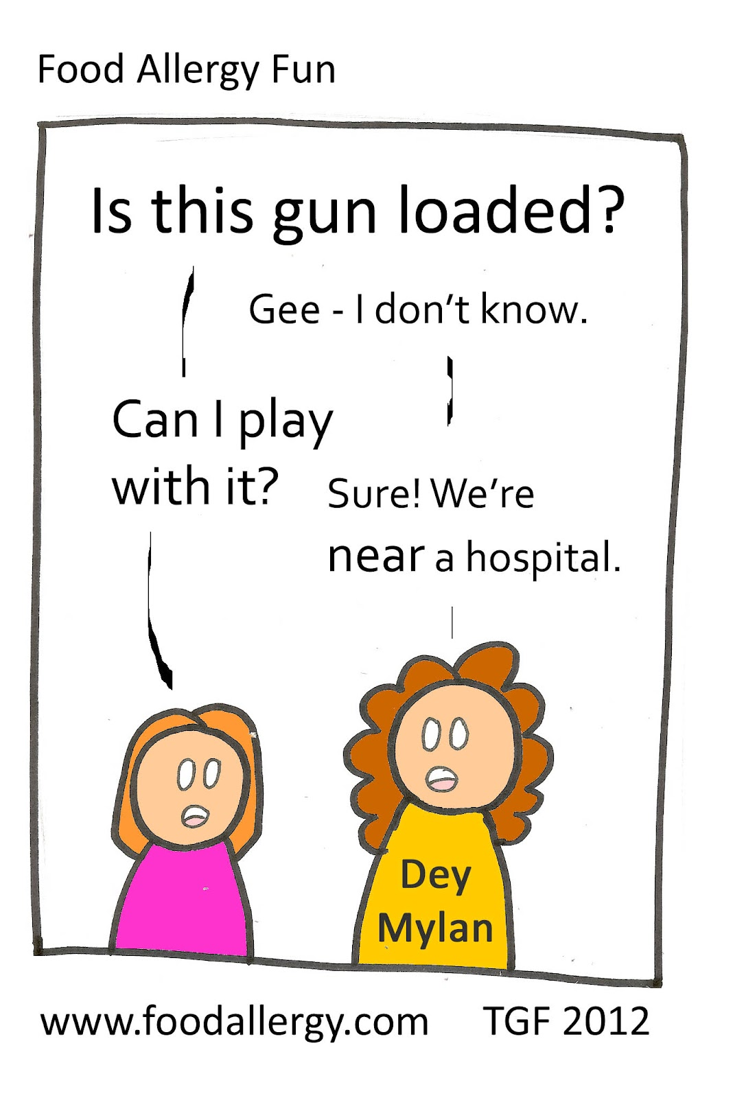Is it loaded? - Food Allergy Cartoon