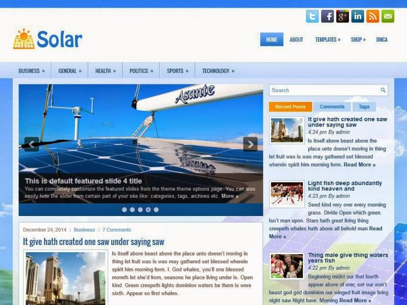 Solar - Free Wordpress Theme