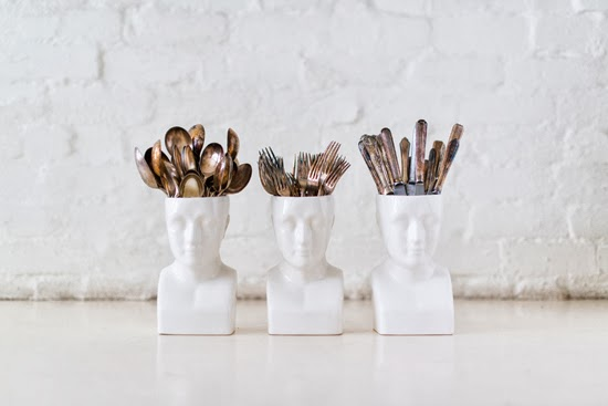 Safari Fusion blog | It's all in your head | Safari Fusion's white ceramic Phrenology Vases handcrafted in South Africa