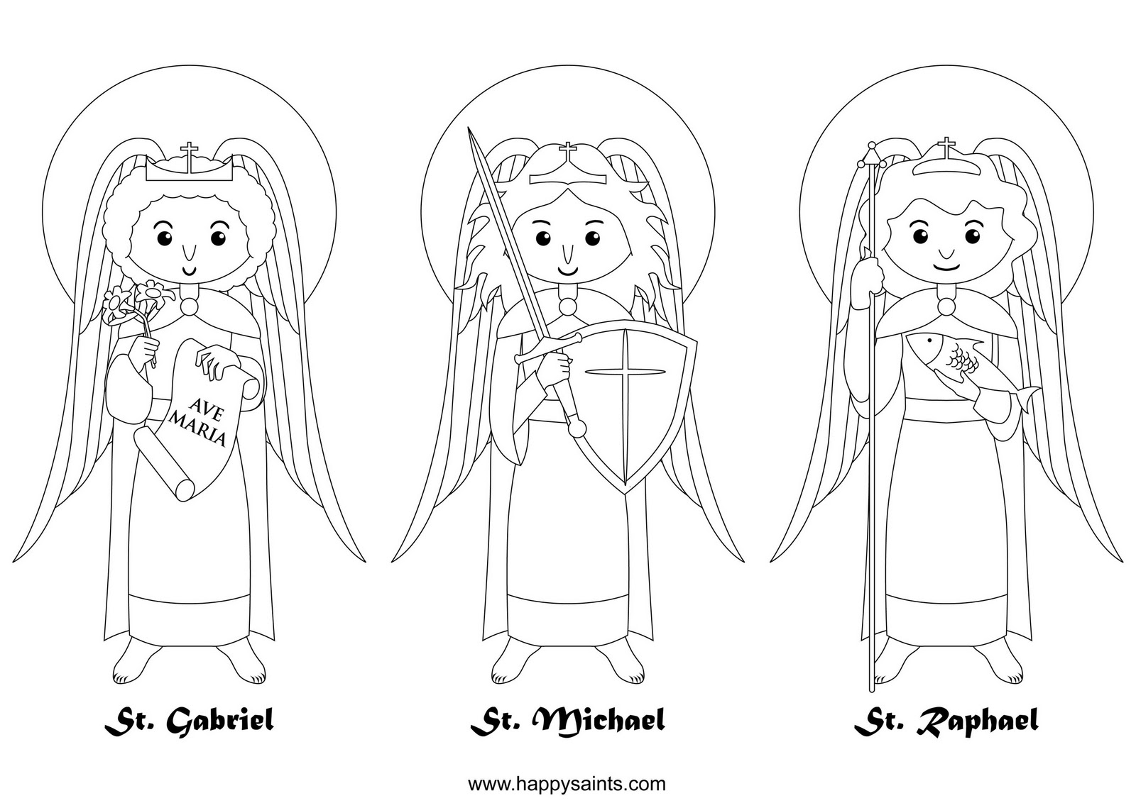 Colouring pages for november - Archangels Coloring Page