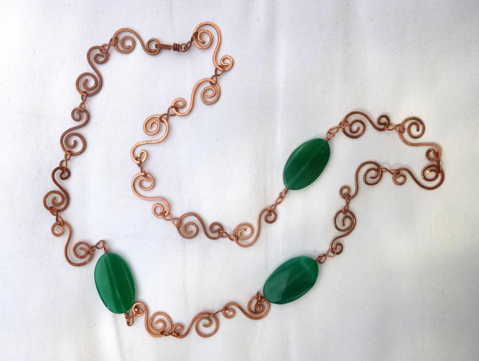 Vetrate Artistiche Belle Epoque: Collana wire con filo di rame e ...