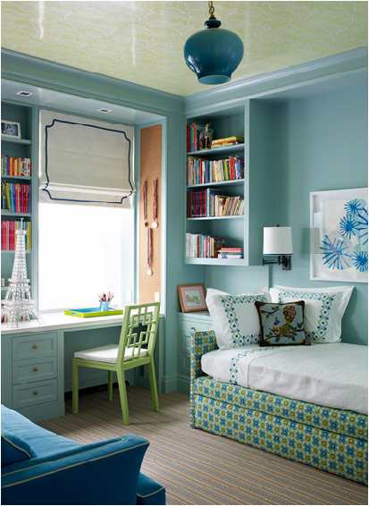 Not Pink And Beautiful Teen Girl Bedrooms  Blue And Green Girls Bedroom.