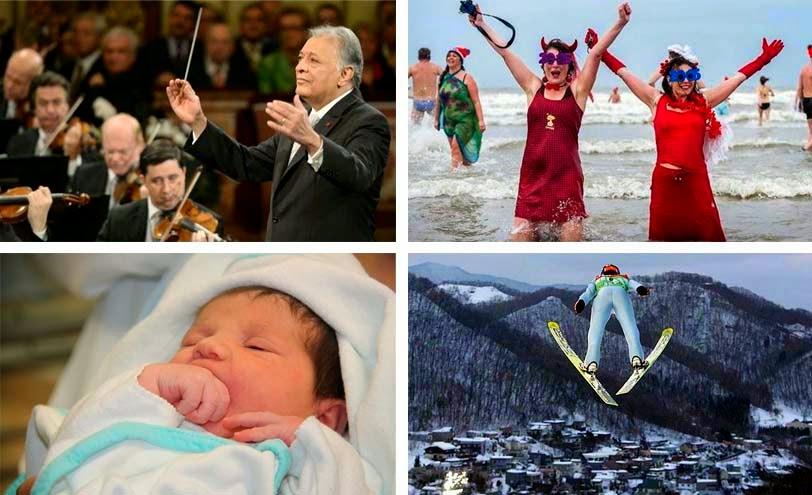 Tradiciones periodísticas del 1 de enero, año nuevo,
