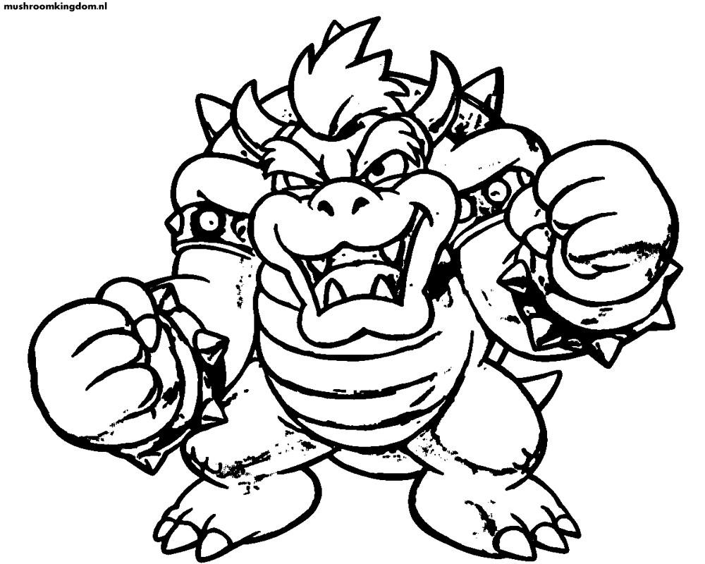 Dorable Super Mario Bros Para Colorear Para Imprimir Cresta ...