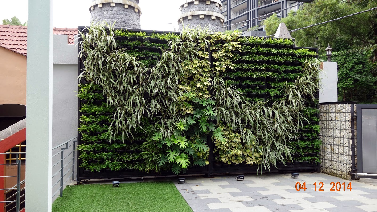 Vertical Wall Planters Outdoor Part - 41: Different Texture And Type Of Plants Being Used For This Outdoor Vertical  Garden System For A Luxurious Villa @ Bangsar, Kuala Lumpur, Malaysia.