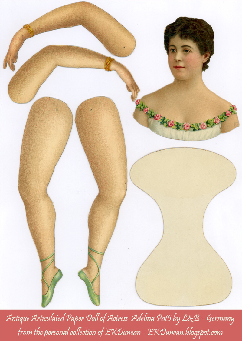 Шарнирная бумажная кукла своими руками 30