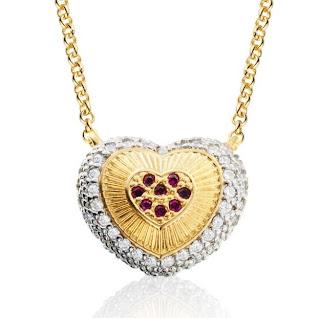 colar semi-jóia com zircônia