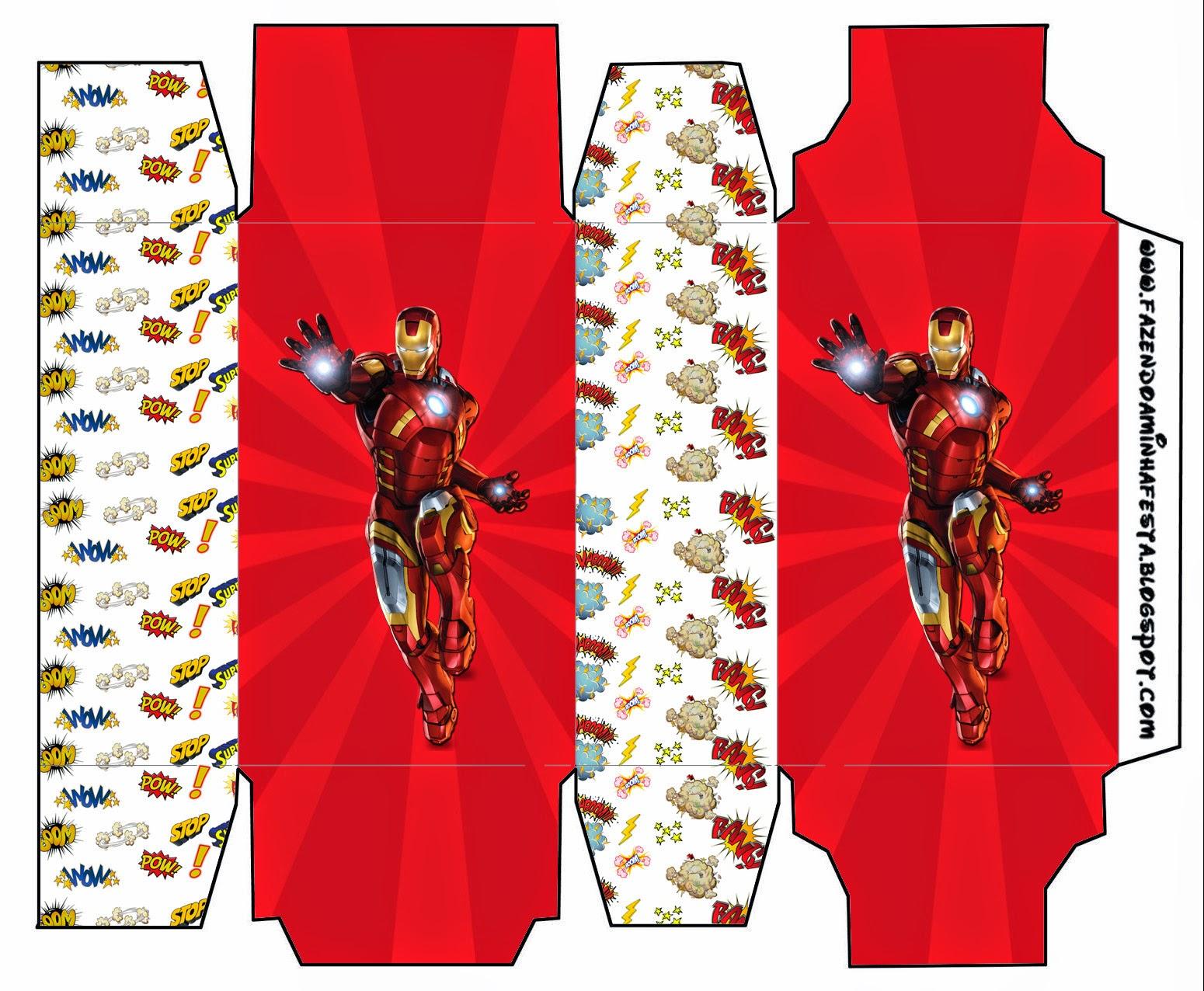 Caja de Iron Man para Imprimir Gratis.