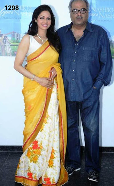 Sridevi orange saree