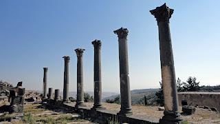Dark columns in Umm Qais