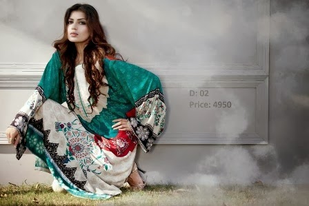 Maria B Linen Winter Dresses 2013-14