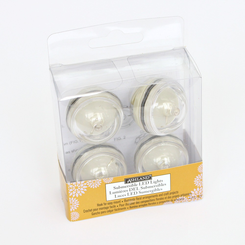 Submersible battery LED lights for crafts