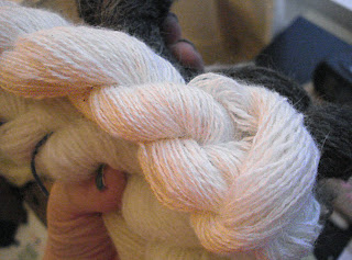 Handspun angora rabbit lace weight yarn