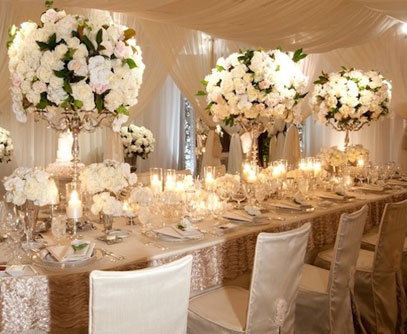 The Wedding Collections: White Wedding Flowers Centerpieces
