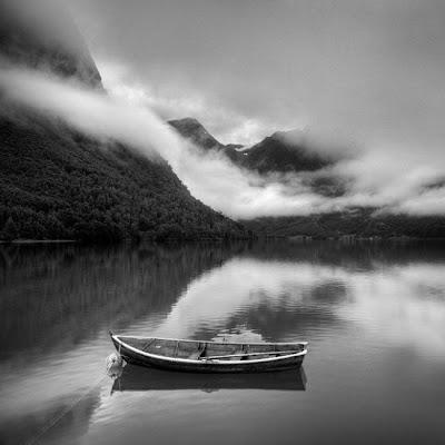 bote blanco y negro