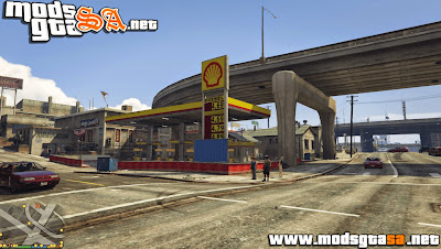 V - Posto de Gasolina Shell para GTA V PC