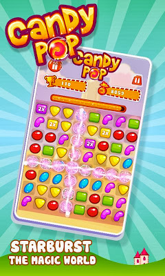 Juego Candy Pop para blackberry, muy similar a Candy Crush