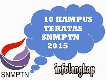 Daftar Perguruan Tinggi Favorit SNMPTN 2015