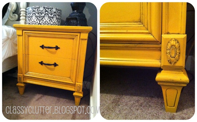 mustard yellow night stand - classy clutter