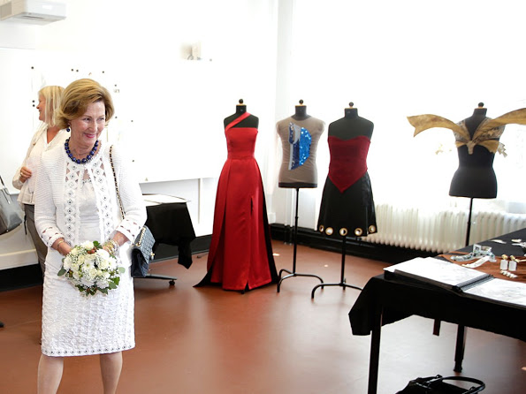 Queen Sonja Opened Edvard Munch School In Oslo