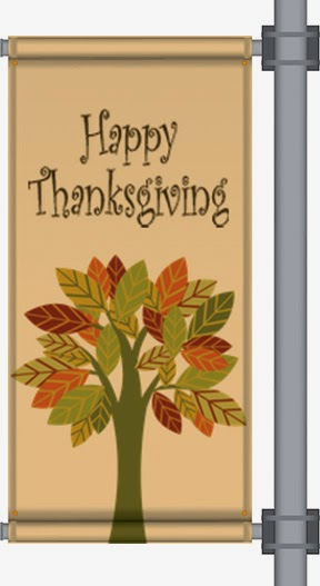 Happy Thanksgiving Pole Banner | Banners.com