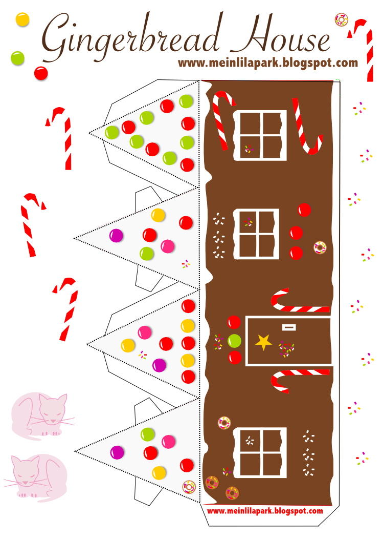 This is a photo of Crush Gingerbread House Templates Printable