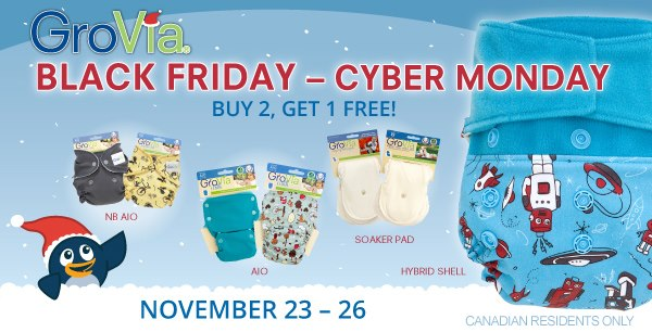 GroVia Black Friday Sale at Lagoon Baby