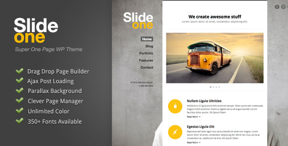 Image for Slide One – One Page Parallax, Ajax Theme by ThemeForest
