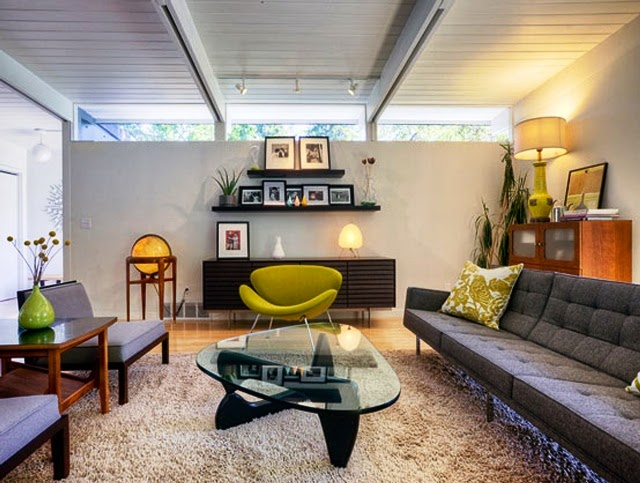 mid century modern interior paint colors