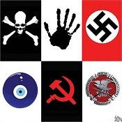 Terry Mosher/Aislin: swastika hypocrisy.