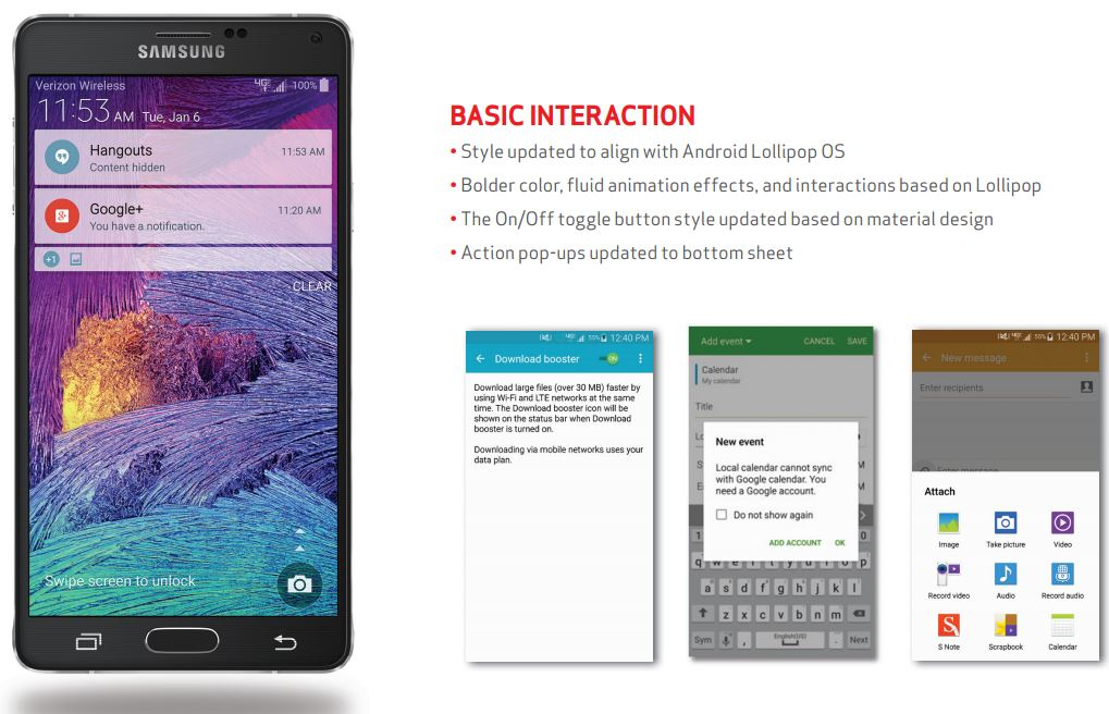 Android 5.0 for Verizon Note 4