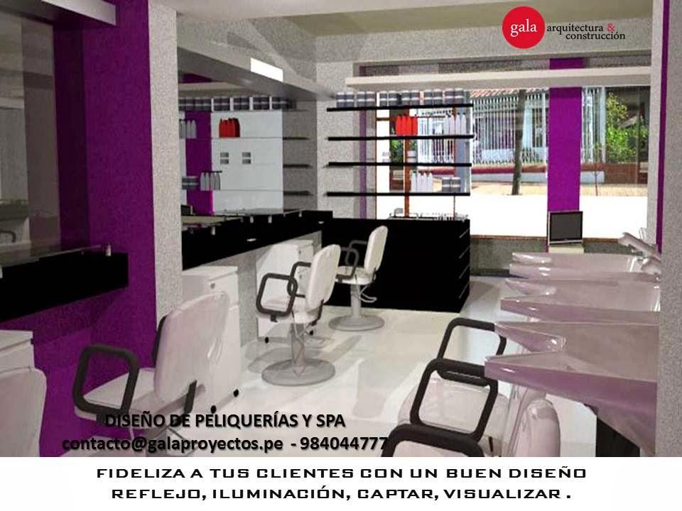 Dise o de peluquer as y spa kn design studio - Interiores de peluquerias ...
