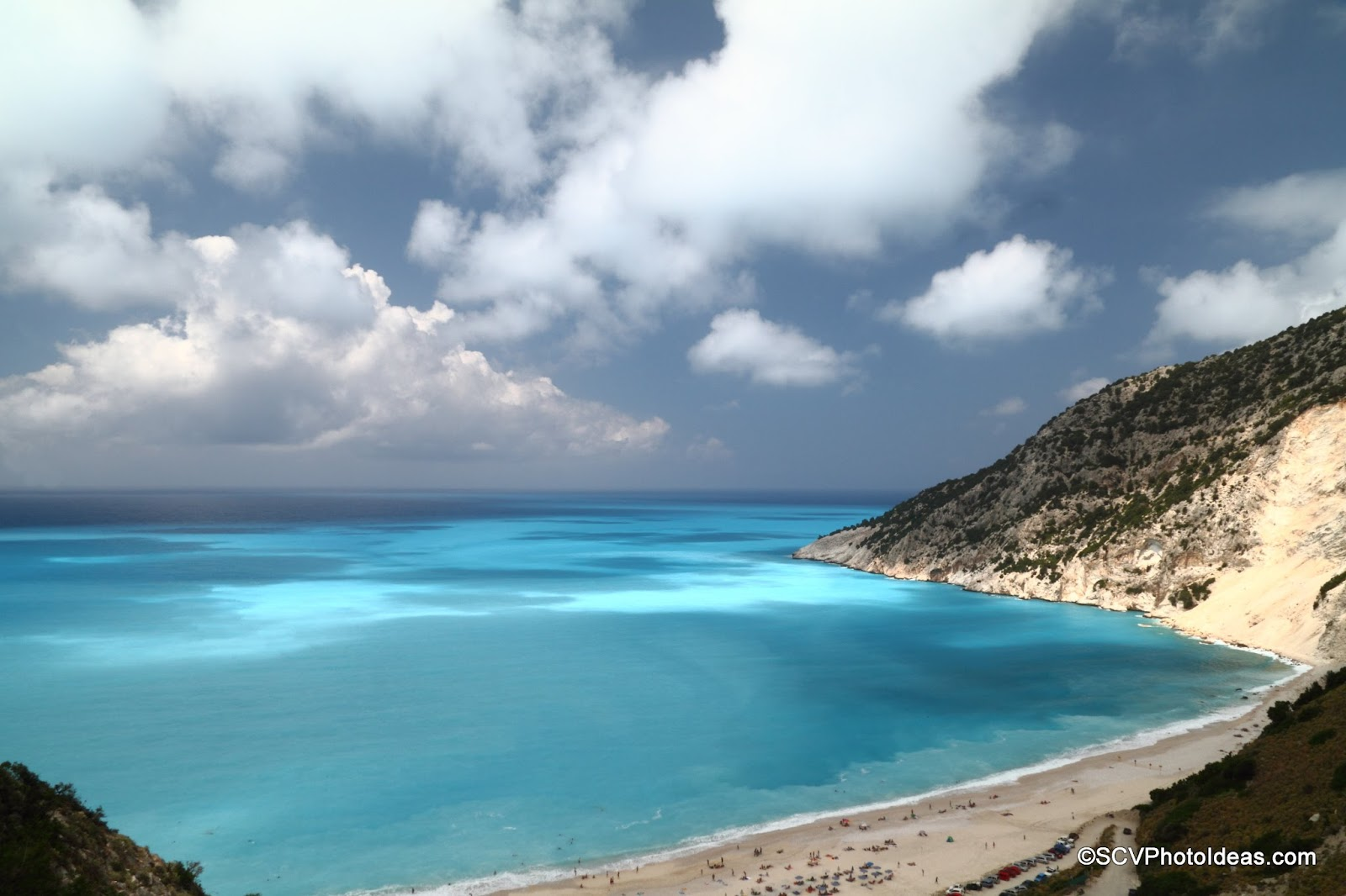 Myrtos Beach, Cephalonia right overview