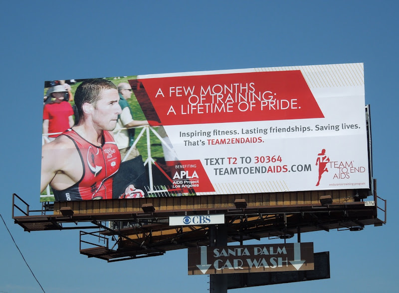 Team to End AIDS billboard WEHO