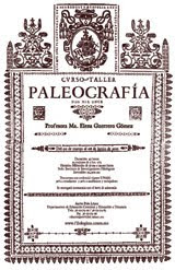 CURSO-TALLER PALEOGRAFÍA