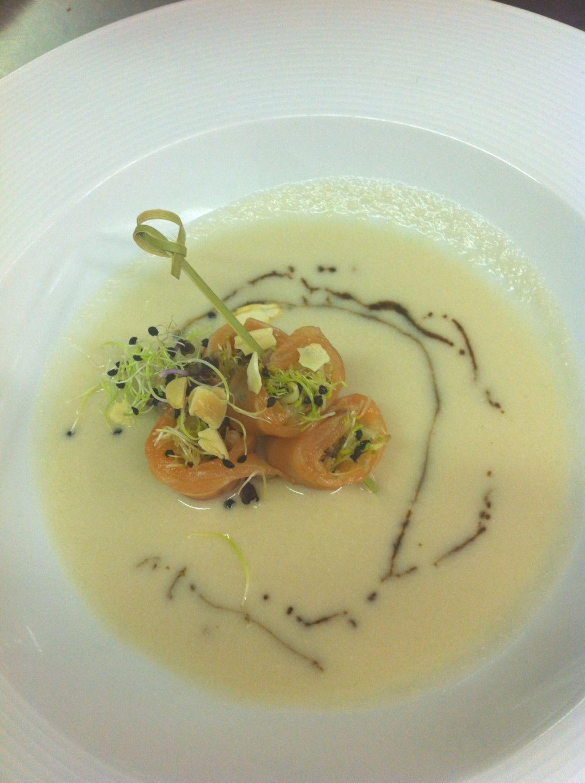 Cooking Hofmann: Ajo blanco de pera - Rable de conejo