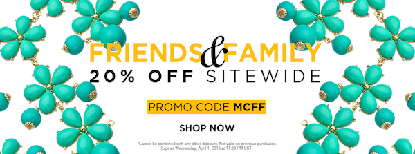 max and chloe friends and family sale jewelry