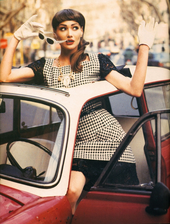 Vogue italia march 1992 photographer pamela hanson model carla bruni