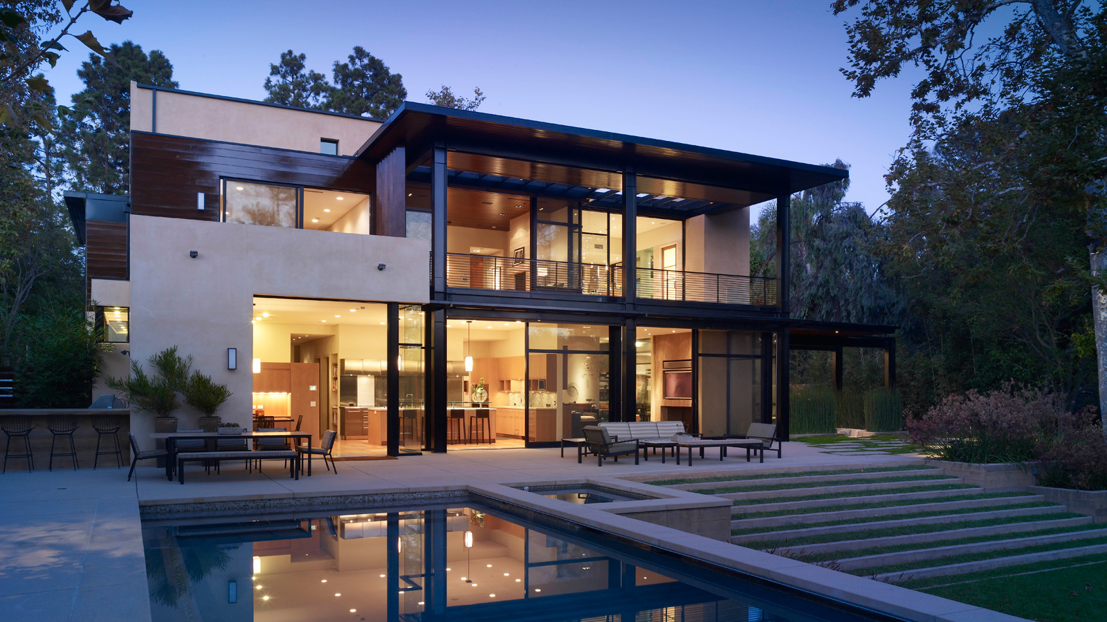 Mega luxury mansion brentwood residence for The brentwood