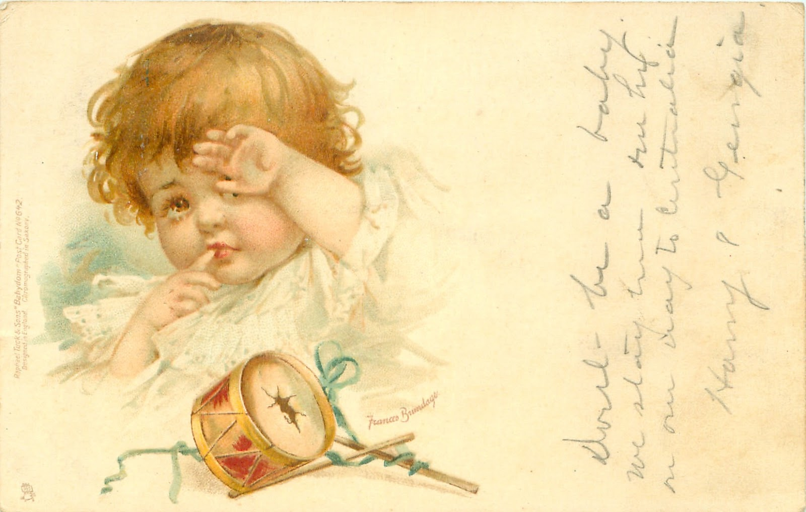 Красивые старинные открытки с детьми 29
