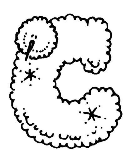BAÚL DE NAVIDAD: Abecedario de Navidad Copos de Nieve para colorear, A-M
