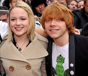 All top hollywood stars rupert grint with girlfriend pics photos