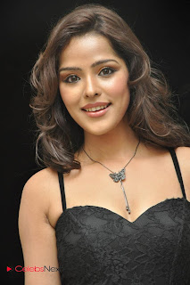 Priyanka Cha Pictures in Sleeveless Black Long Dress 0001.jpg