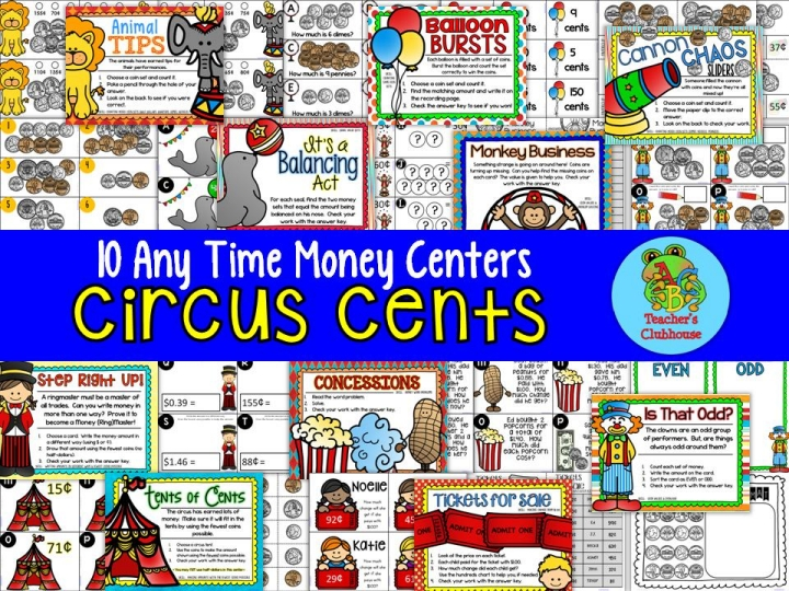 https://www.teacherspayteachers.com/Product/Any-Time-Series-Circus-Cents-Centers-Unit-1693297