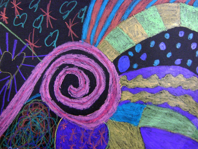 Student Artwork of New Zealand Koru Spiral