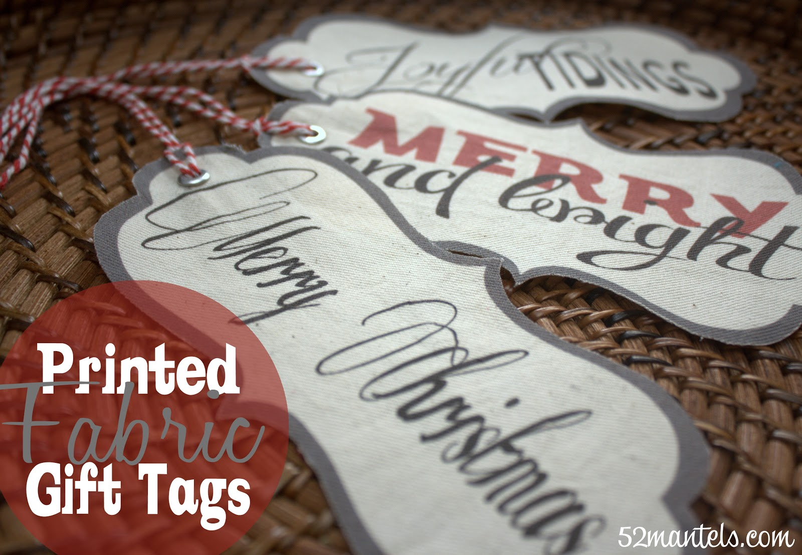 Holiday Project -- Printed Fabric Gift Tags