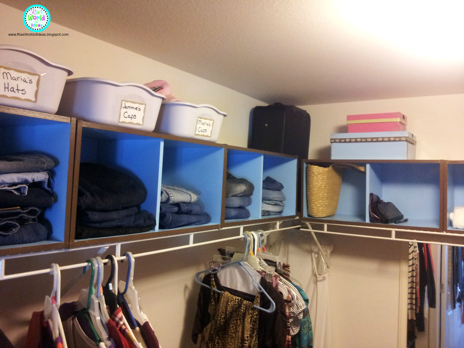 I Also Am Using The Other Cubbies On The Other Side Of My Closet To  Organize My Jeans And Shorts.