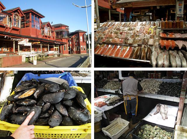 Mercado de pescado en Puerto Montt