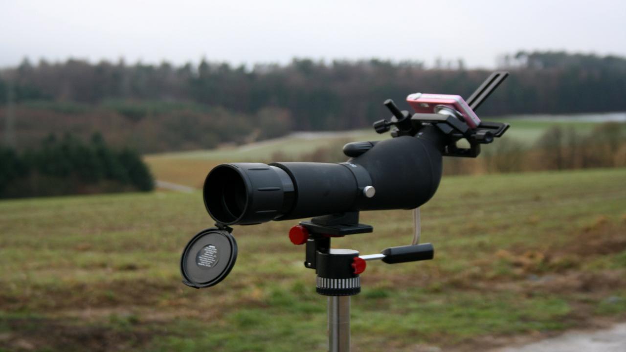 Zoom spektiv 20 60x60 mit 45° einblick bei lidl astro equipment