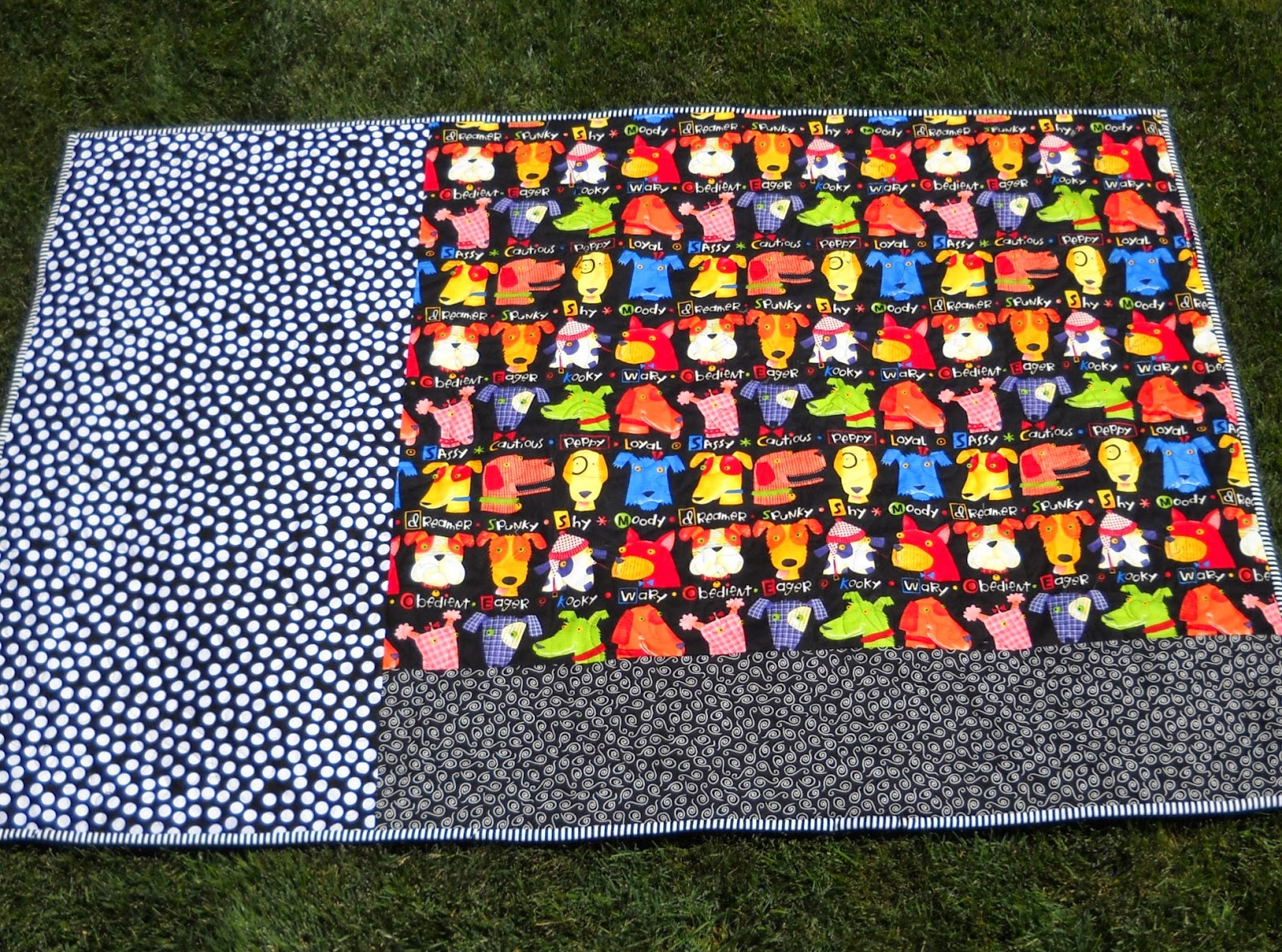 Vals Quilting Studio Alyoff June Dog Themed Quilt Is Finished